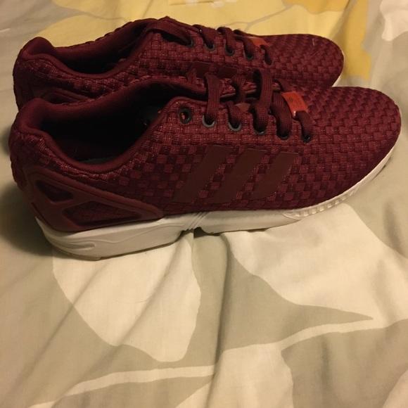 Adidas zx flux burgundy 3m